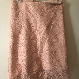 Torrid Pink lace overlay skirt